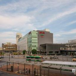 Full view of Himeji Station north exit (姫路駅北口)