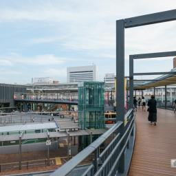 Indoor view of Himeji Station north exit (姫路駅北口)