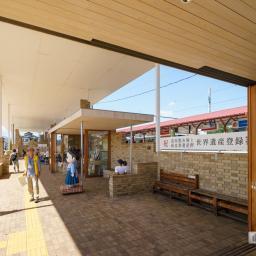 Exterior view of Joshu Tomioka Station (上州富岡駅)