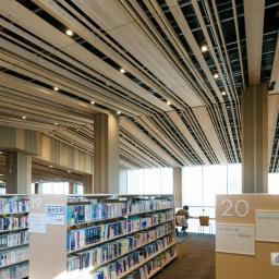 Indoor view of Moriyama City Library (守山市立図書館)