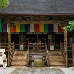 The facade of Chikurinji Temple (竹林寺本坊・本堂)