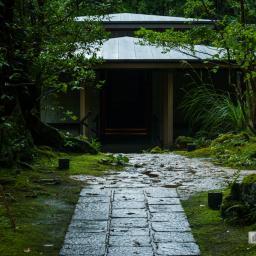 Exterior view of Chikurinji Temple, Charnel House (竹林寺・納骨堂).