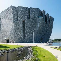Full view of Kadokawa Culture Museum (角川武蔵野ミュージアム)