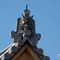 Onigawara of Zojoji Temple, Enkodaishido (増上寺 圓光大師堂)