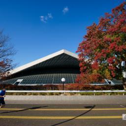 Exterior view of Komazawa Gymnasium (駒沢オリンピック公園総合運動場体育館)