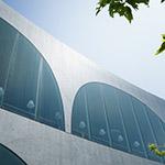 Upward view of Tama Art University, library (多摩美術大学図書館)