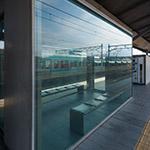 A room on platform of Ryuo Station (竜王駅 南口駅前広場)