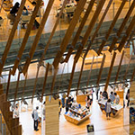 Above view in Toyama City Library (富山市立図書館)