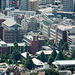 Aerial view of Rikkyo University (立教大学)
