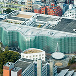 Aerial view of The National Art Center, Tokyo (国立新美術館)