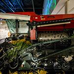 Combine harvester of Yanmar Museum (ヤンマーミュージアム)