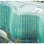 Detail of aerial view of The National Art Center, Tokyo (国立新美術館)