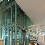 Elevator hall in Kanazawa Umimirai Library (金沢海みらい図書館)