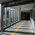 Entrance passage of Kaminoge Station (上野毛駅)