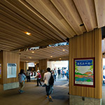 Entrance space of Takaosanguchi Station on ceiling (高尾山口駅)