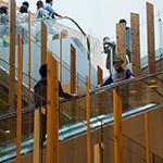 Escalators in TOYAMA Kirari (TOYAMAキラリ)
