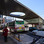 Exterior view of Kaminoge Station (上野毛駅)