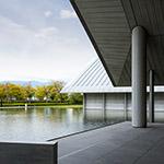 Exterior view of Sagawa Art Museum (佐川美術館)