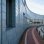 Exterior view of Yurihonjo City Cultural Center KADARE (由利本荘市文化交流館 カダーレ)