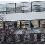 Exterior wall of Toyo University, Akabanedai (東洋大学 赤羽台キャンパス).