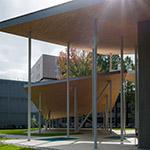 Facade of Okayama University, Junko Fukutake Hall (岡山大学 Junko Fukutake Hall)