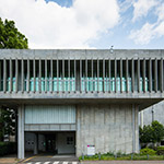 Facade of Tokyo Institute of Technology Library, Eaet 1 building (東京工業大学 事務局1号館)