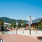 Far view of Onagawa Station (女川駅)