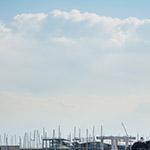 Full view of Enoshima Yacht Harbor (江ノ島ヨットハーバー)