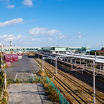 full view of Hitachi Station (日立駅)