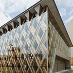 Full view of Kindai University, e-cube (近畿大学 英語村)