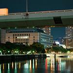 Full view of Osaka City Government Office (大阪市庁舎)