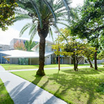 General view of Okayama University, Junko Fukutake Hall (岡山大学 Junko Fukutake Hall)