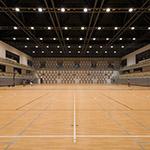 Gymnastic space of Nagaoka City Hall Aore (アオーレ長岡) Directory sign of Nagaoka City Hall Aore (アオーレ長岡)