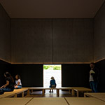 In the ZEN House of D.T.Suzuki Museum (鈴木大拙館)