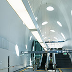 Indoor of Shin-Hakushima Station (アストラムライン新白島駅)