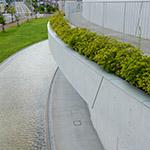Landscape from rooftop in Akiha Ward Cultural Center (秋葉区文化会館)