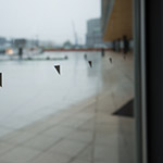 Logos on the window, Toyama Prefectural Museum of Art & Design (富山県美術館)