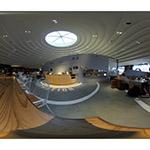 Lounge Cofun of CoFuFun in equirectangular (天理駅前広場コフフン ラウンジコフン)