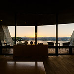 Lounge space of Setre Marina Biwako (セトレ マリーナびわ湖)