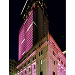 Nihonbashi Mitsui Tower in cherry blossom color (日本橋三井タワー)