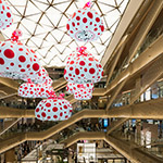 Open ceiling of Ginza Six (ギンザシックス)