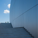 Outside stairs of Toyama Prefectural Museum of Art & Design (富山県美術館)