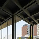 Pilotis of Tokyo University of Science, Library (東京理科大学 葛飾キャンパス 図書館棟)