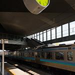 Platform of Ryuo Station (竜王駅 南口駅前広場)