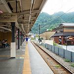 Platform, Takaosanguchi Station (高尾山口駅)