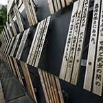 Some words on timber plate of Nagaoka City Hall Aore (アオーレ長岡)