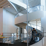 Spiral staircase of Art Museum & Library, Ota (太田市美術館・図書館)