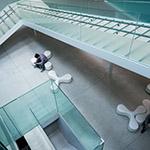 Stairs to ground floor of 21st Century Museum of Contemporary Art, Kanazawa (金沢21世紀美術館)