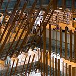 Stairwell in Toyama City Library (富山市立図書館)