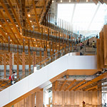 Stairwell space of TOYAMA Kirari (TOYAMAキラリ)